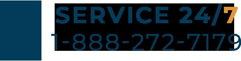 24/7 Service - 1-888-272-7179